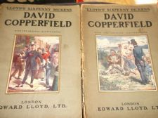 ANTIQUE PB LLOYD'S SIXPENNY DICKENS ILLUSTRATED c1910 2 X VOLS DAVID COPPERFIELD
